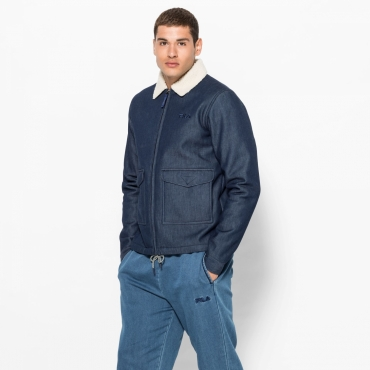 Fila Toti Denim Sherpa Coach Jacket
