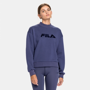 Fila Wmn Fauna Wide Cropped Crew Sweat