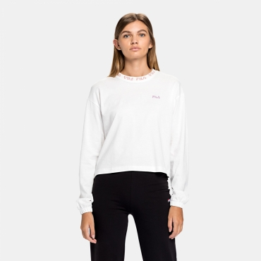 Fila Wmn Feryal Cropped Long Sleeve Shirt