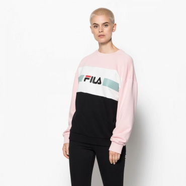 Fila Angela Crew Sweat 2.0 rose-white-black