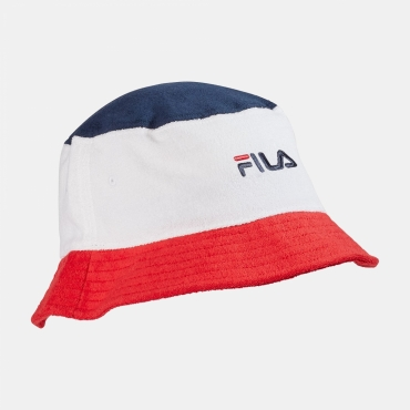 Fila Blocked Bucket Hat navy-white-red