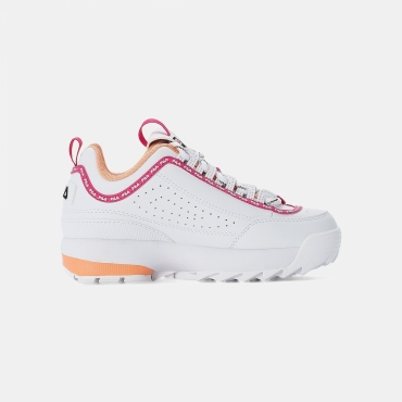 Fila Disruptor Logo JR white-beetroot