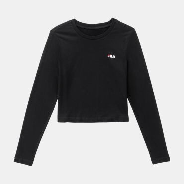 Fila Eaven Cropped Long Sleeve Shirt black