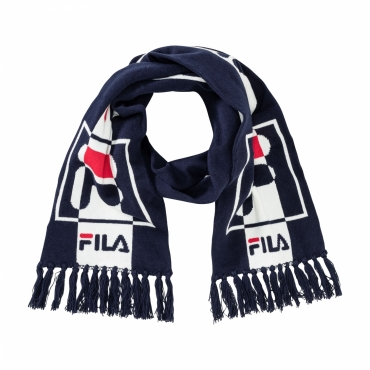 Fila Intarsia Knitted Scarf