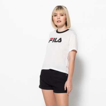 Fila Michelle Cropped Mesh Tee white