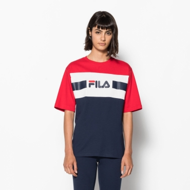 Fila Shannon Tee black-iris-red-white