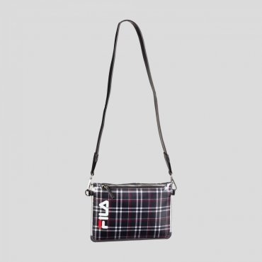 Fila Transparent Cross Body Bag black-tartan-aop
