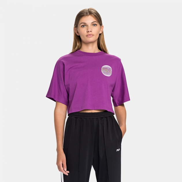 Fila Anemore Cropped Wide Tee sparkling-grape