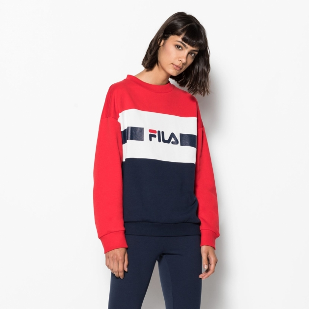 Fila Angela Crew Sweat 2.0 red-black-iris-white