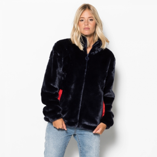 Fila Arianna High Neck Fur Jacket