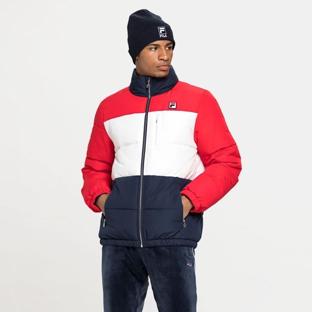 Fila Avventura Puff Jacket navy-white-red