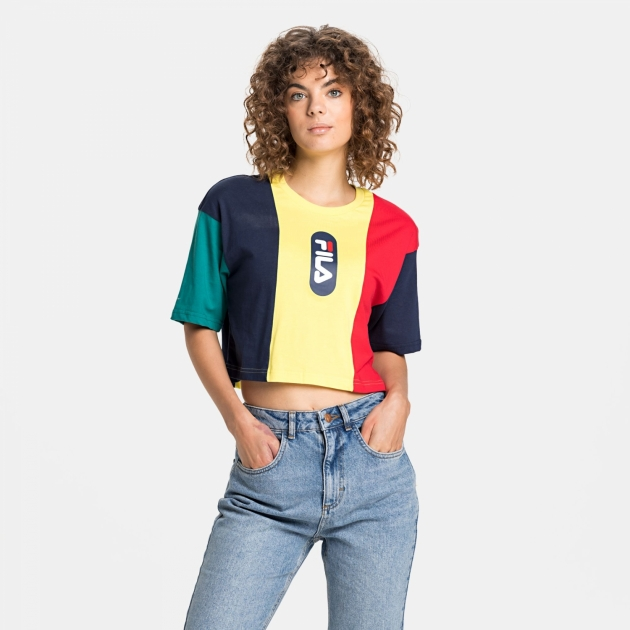 Fila Basma Blocked Cropped Tee
