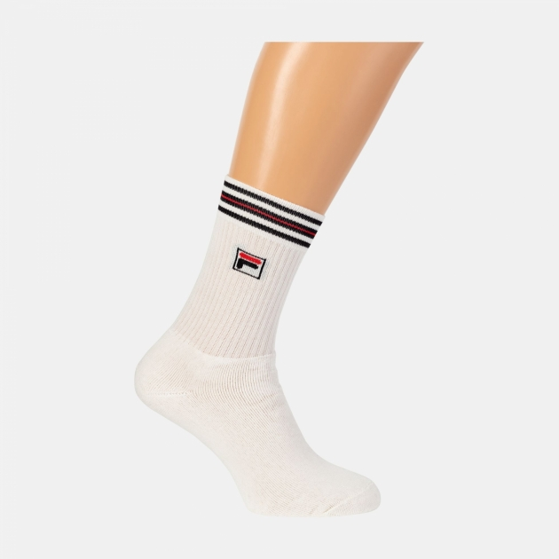 Fila Borg Unisex Socks white