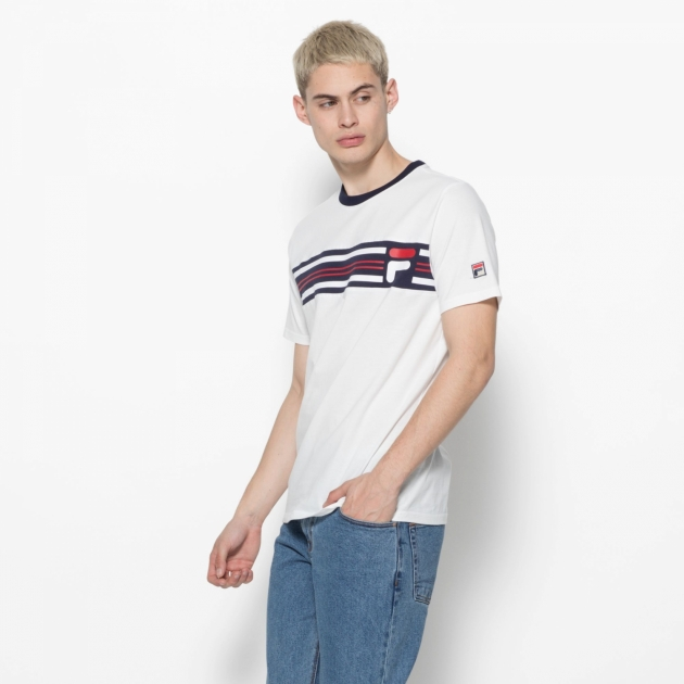 Fila Bruno 3 Cut And Sew Knit Panel Graphic Tee