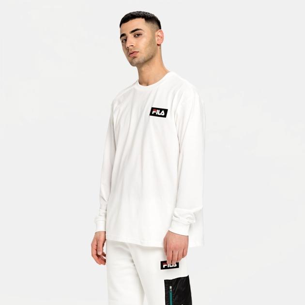 Fila Cicero Long Sleeve Shirt blanc-de-blanc
