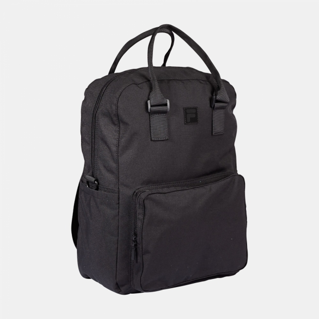 Fila Coated Canvas Convertible Mid Backpack black
