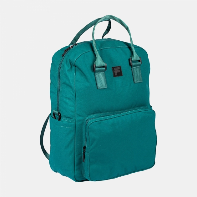 Fila Coated Canvas Convertible Mid Backpack storm