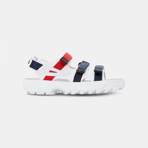 Fila Disruptor Sandal white-navy-red