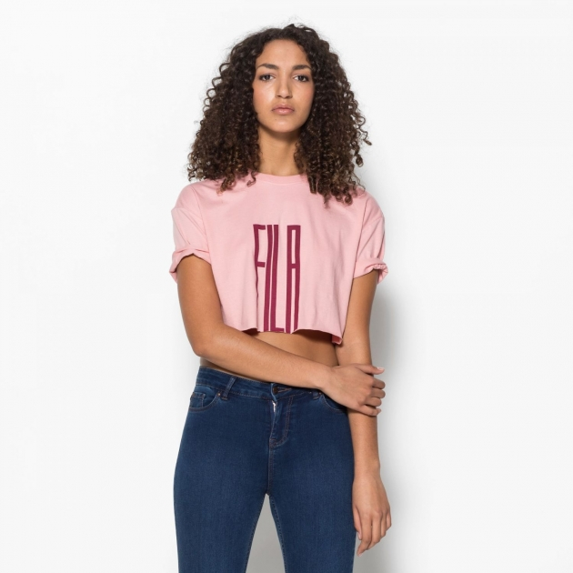 Fila Domenica Cut Hem Tee pink-shadow