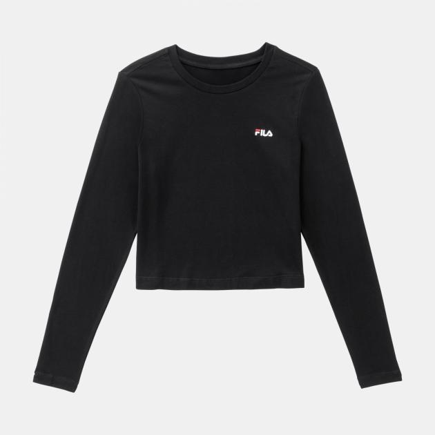 Fila Eaven Cropped Long Sleeve Shirt black