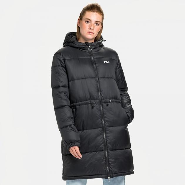 Fila Embla Long Hooded Puff Jacket black