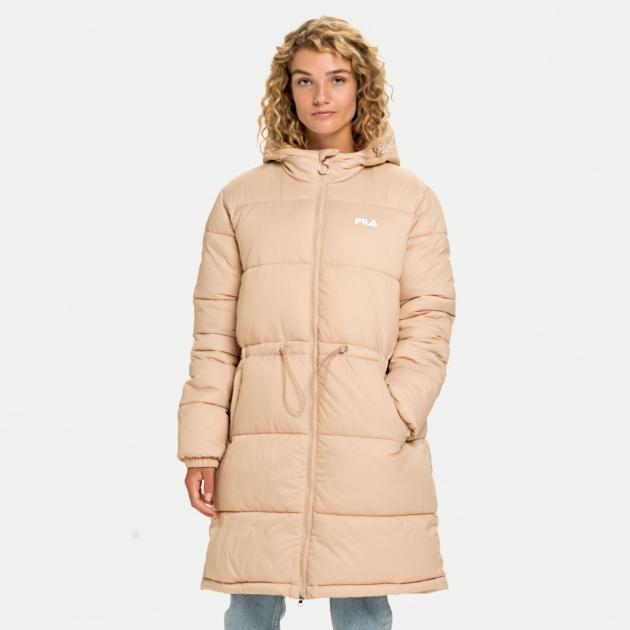 Fila Embla Long Hooded Puff Jacket cuban-sand