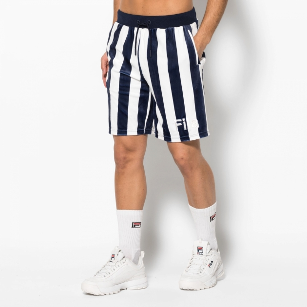 Fila Grid Printed Stripe Velour Short