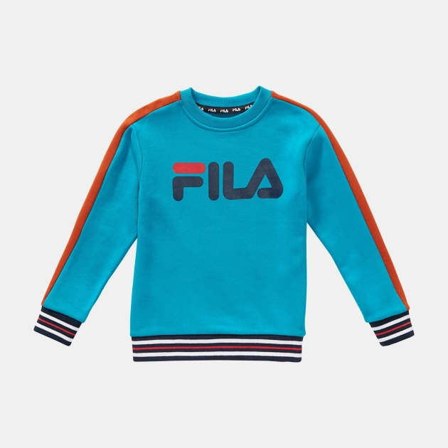 Fila Kids Alessio Logo Crew Shirt blue-orange