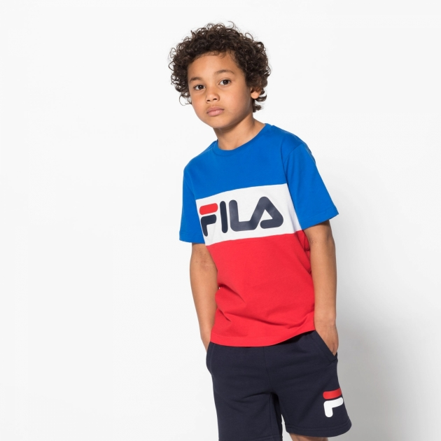 Fila Kids Classic Day Blocked Tee lapis-blue-red