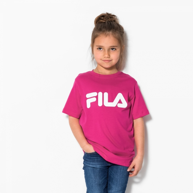 Fila Kids Classic Logo Tee pink-yarrow