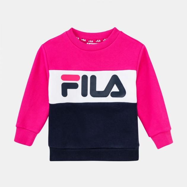 Fila Kids Night Blocked Crew black-iris-pink-yarrow