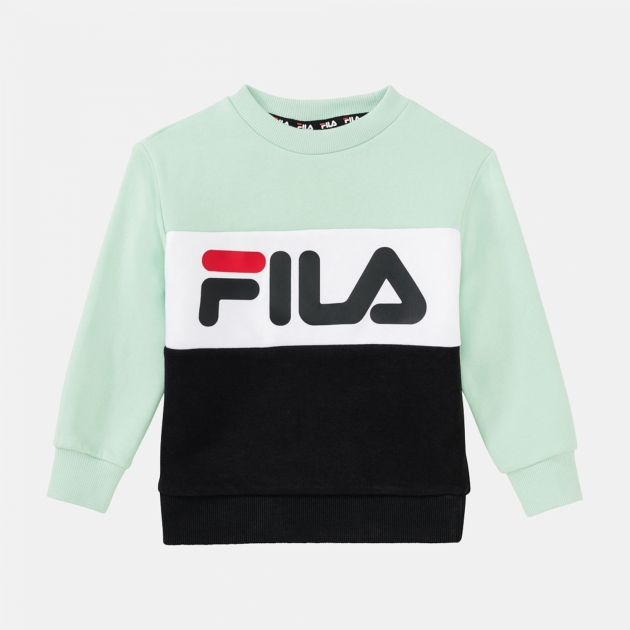 Fila Kids Night Blocked Crew mist-green