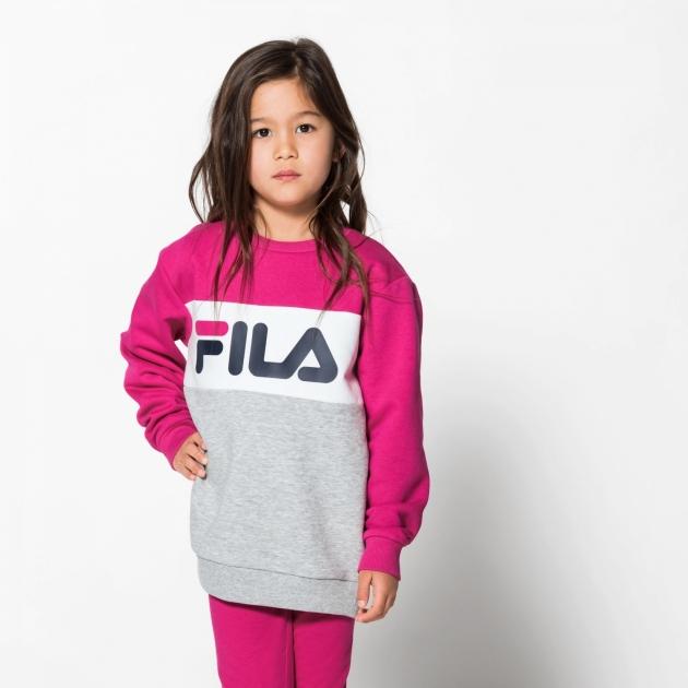 Fila Kids Night Blocked Crew pink-yarrow