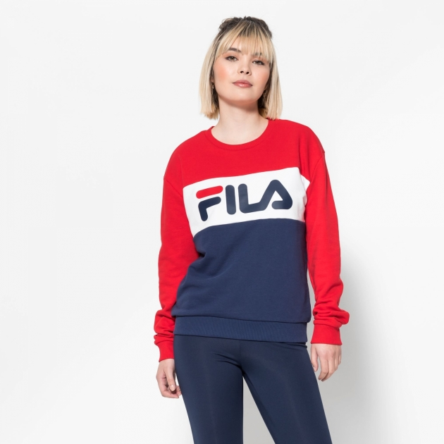 Fila Leah Crew Sweat black-iris-red-white