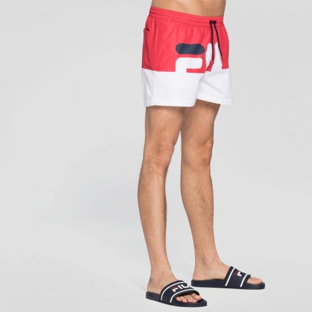 Fila Makoto Swim Shorts red-white