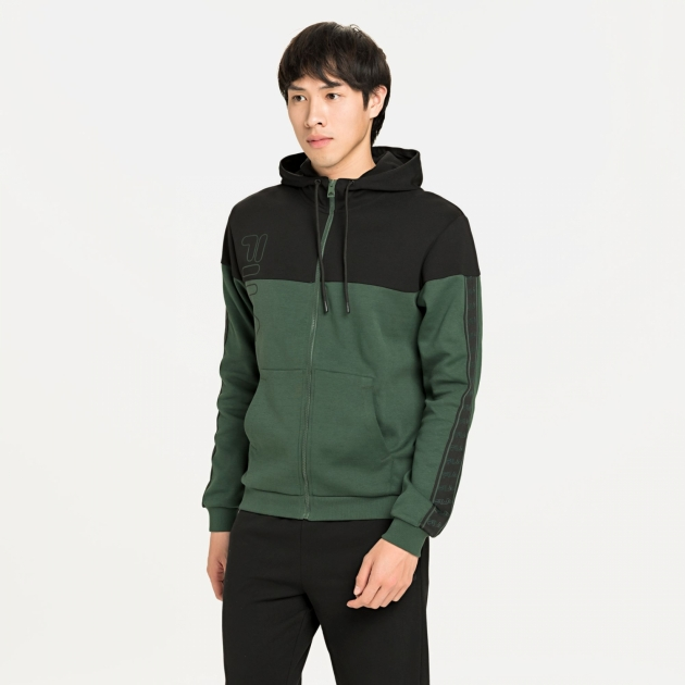 Fila Men Ole Hooded Jacket sycamore-black