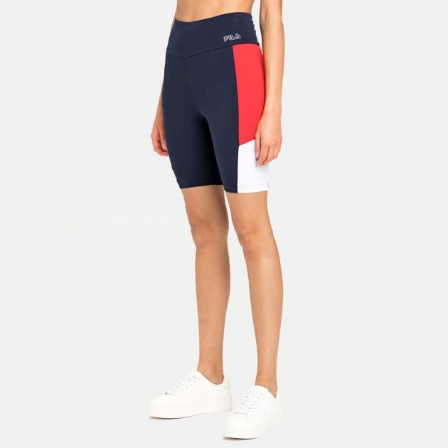 Fila Peri High Waist Short Leggings black-iris-red-white