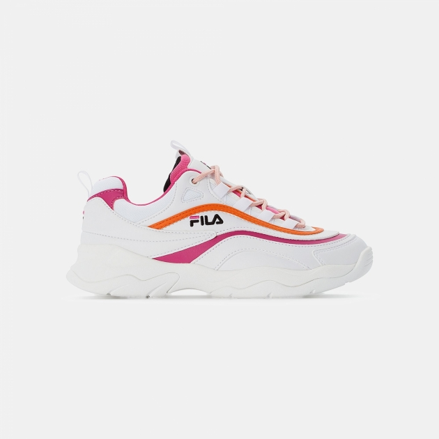 Fila Ray CB Low Wmn white-pink-mandarin