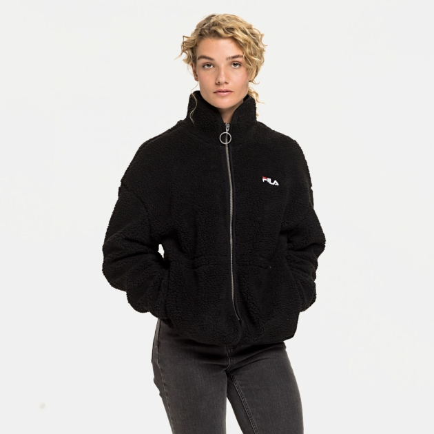 Fila Sari Sherpa Fleece Jacket black
