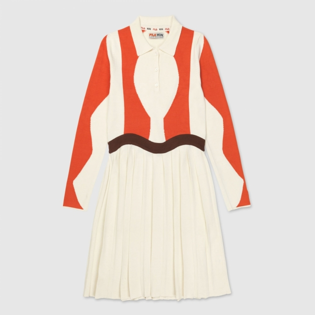 Fila Serena Knitted Dress Wmn eggnog