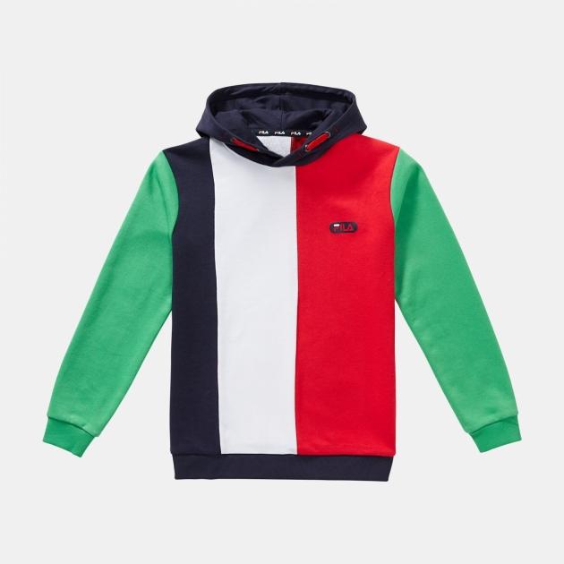 Fila Teens Ben Hoody red-white-green