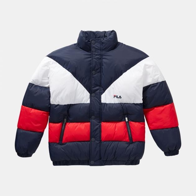 Fila Teens Brian Puff Jacket navy-red-white