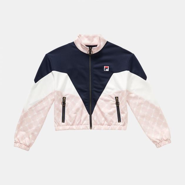 Fila Teens Daniela Knitted Jacket navy-white-rose