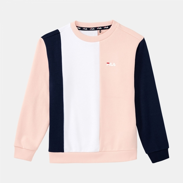 Fila Teens Tulia Blocked Crew Sweat