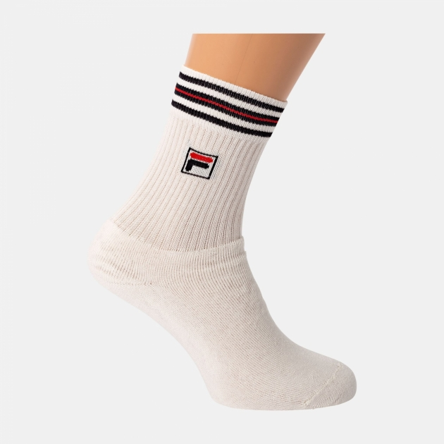 Fila Unisex Tennis Socks white