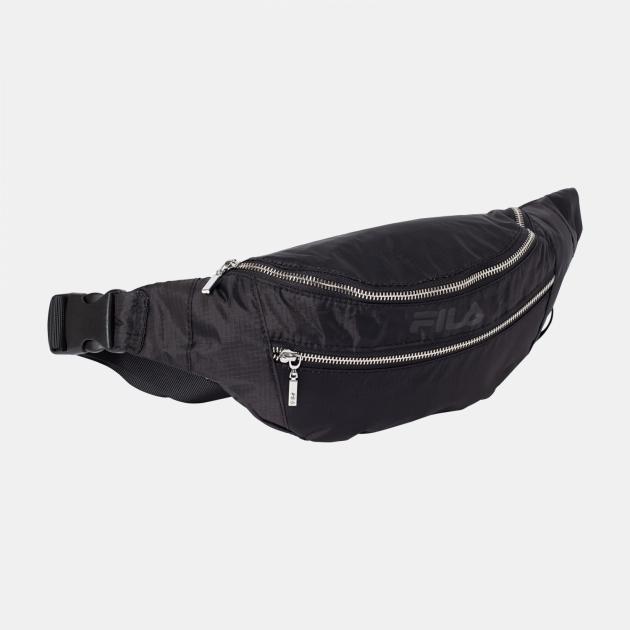 Fila Waist Bag Light Ripstop Double Zipper black