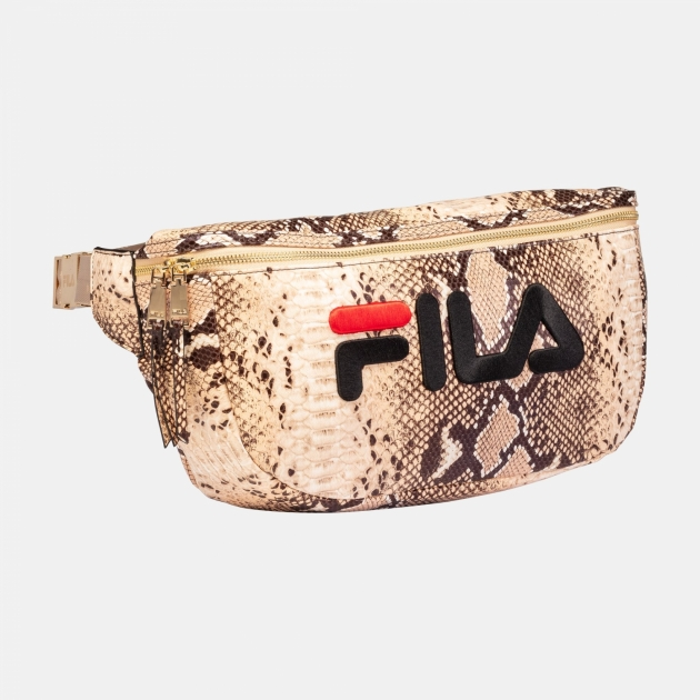 Fila Women Waist Bag gold-snake-aop