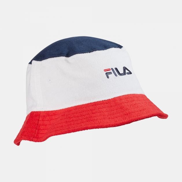 Fila Blocked Bucket Hat navy-white-red