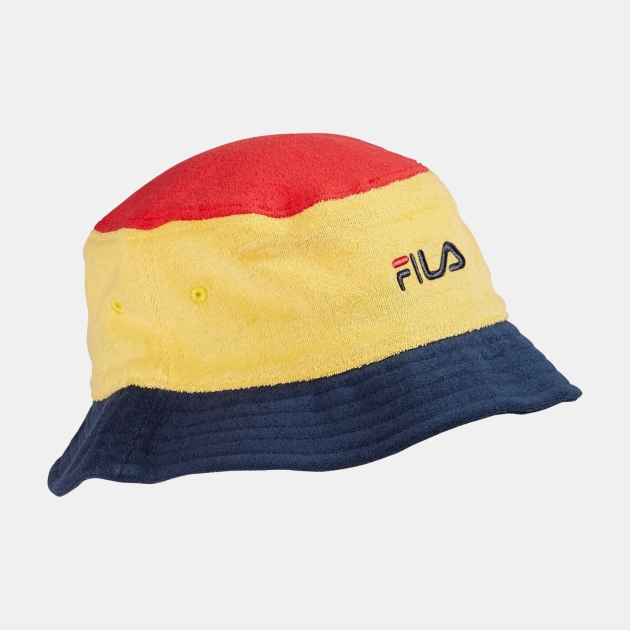 Fila Blocked Bucket Hat red-yellow-navy