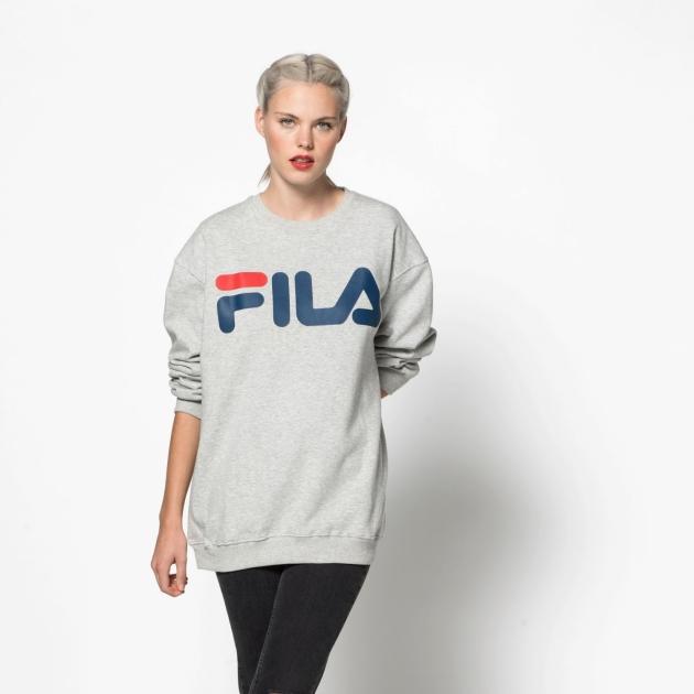 Fila Classic Logo Sweat lightgrey-melange